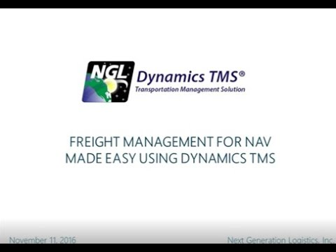 Freight Management for NAV Made Easy using Dynamics TMS