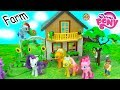 My Little Pony Visit + Help Destroyed Playmobil Farm - Mlp Toy Play Video video
