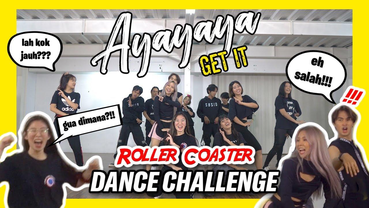KOK DANCE-NYA JADI GINI?!🤣 ROLLER COASTER DANCE CHALLENGE! #Ayayayagetit
