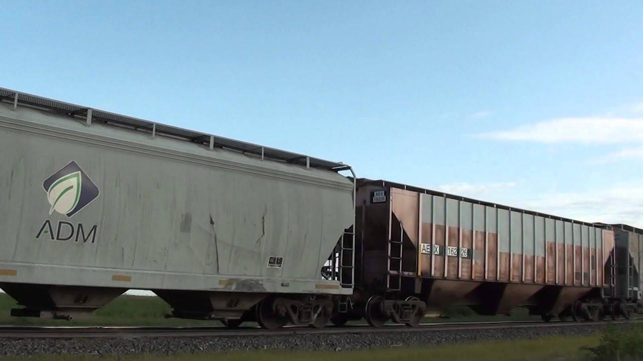 eastbound Texas ADM Grain Train on the GSR 07/15/2014 # 5