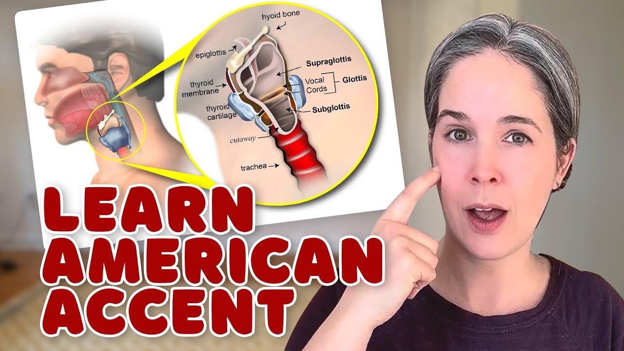 アメリカ英語を話すときの発声、参考動画