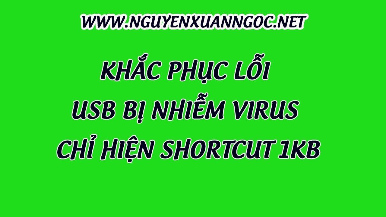 Nguyễn Xuân Ngọc   Khắc phục lỗi USB bị nhiễm virus chỉ hiện shortcut 1KB