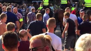 Rellen Hooligans Vitesse Southampton Op Korenmarkt