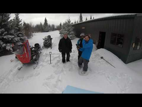 Snowmobiling in Three Lakes