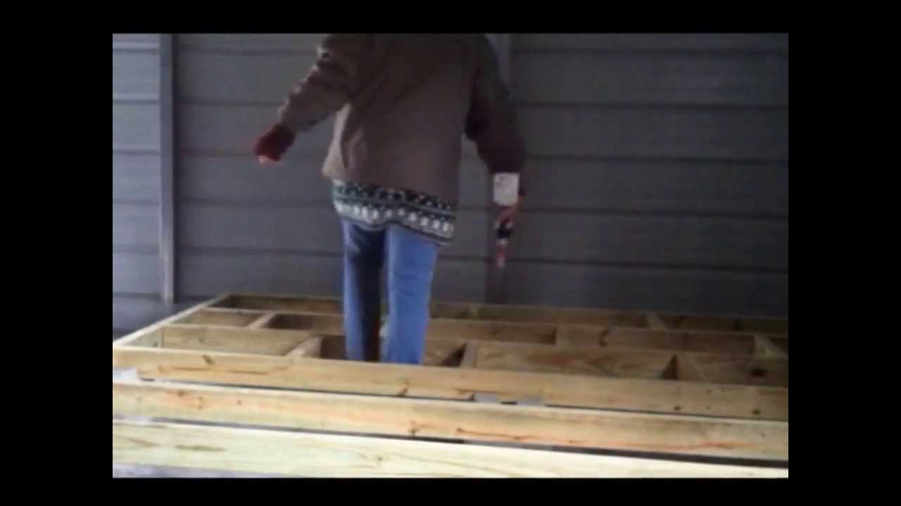 Building A Raised Wood Floor Youtube