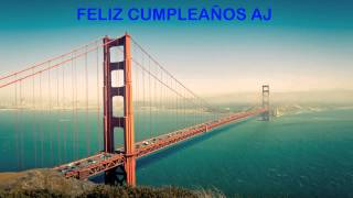AJ   Landmarks & Lugares Famosos - Happy Birthday