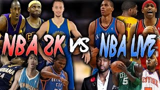 NBA 2K COVER ATHLETES VS NBA LIVE COVER ATHLETES!! NBA 2K16 MY LEAGUE!!