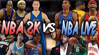 NBA 2K COVER ATHLETES VS NBA LIVE COVER ATHLETES!! NBA 2K16 MY LEAGUE!!