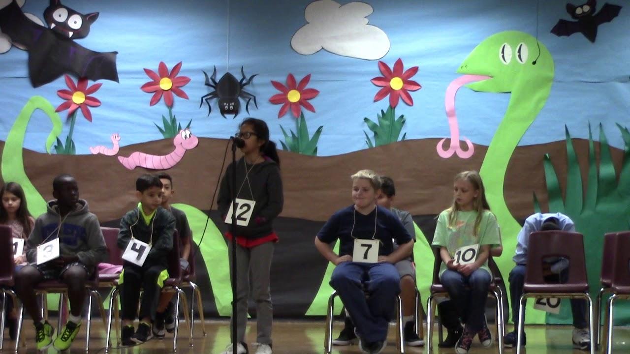 Spring Garden Elementary School Spelling Bee November 28 2017 Part 2 Youtube