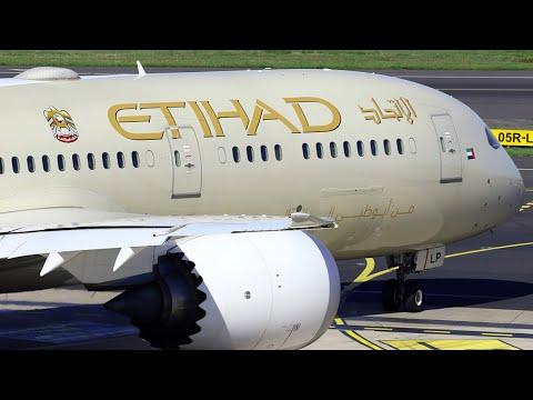 SERIOUSLY SATISFYING Flight Video. Etihad Airways EY408 ABU DHABI to BANGKOK