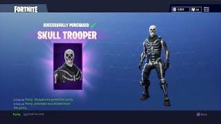 CE KID BUYS THE SKELETON OUTFIT (SKULL TROOPER) FORTNITE BATTLE ROYAL CADEAU Peaux