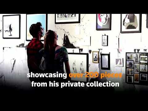 Banksy fan exhibits work after meeting artist