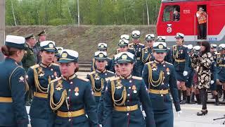 В Вольске встретили участниц Парада Победы