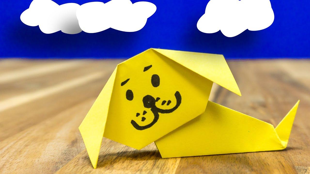 hund aus papier falten kinderleicht erkl rt tier origami. Black Bedroom Furniture Sets. Home Design Ideas
