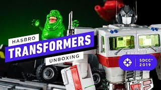 Ghostbusters and Transformers Get an Epic 80s Mashup With This Optimus Prime Ecto-1 - Comic Con 2019