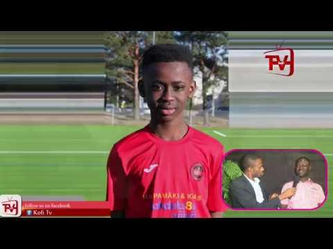 KOFITV INTERVIEWS GHANAIAN BOY WHO PLAYS FOR FINLAND U16 NATIONAL TEAM Live