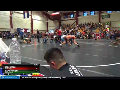 Middle School 119 Kodi Raper Bald Eagle Vs Isaiah Algien Team Pueblo