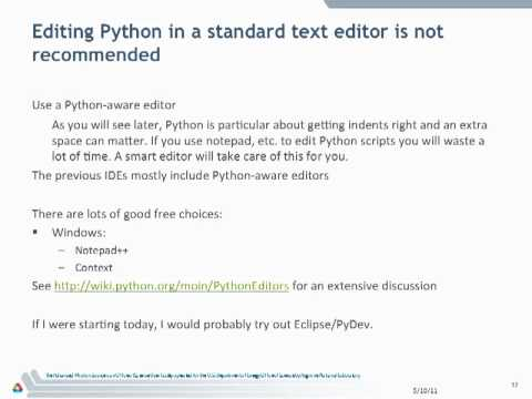 Learning Python - Introduction part 1a