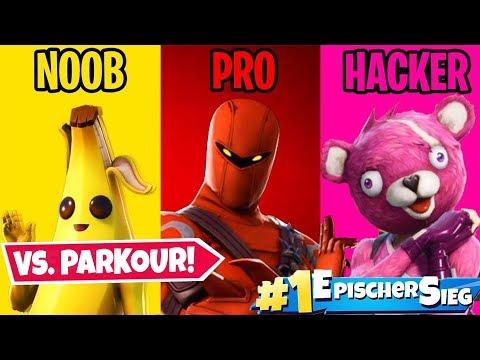NOOB vs. PRO vs. HACKER Parkour in Fortnite!