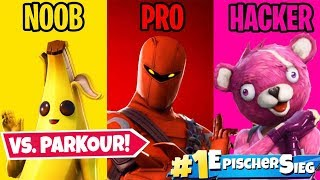 NOOB vs. PRO vs. HACKER Parkour in Fortnite!