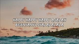 DJ Qhelfin   Happy Ajalah ft  Gafar Lyrics Lyric Video   YouTube