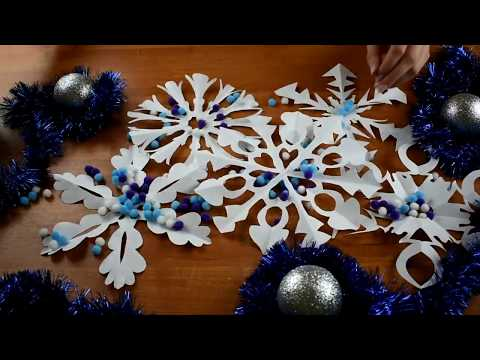 How to cut snowflakes with paper - easy, tutorial |Jolly Paint ♡