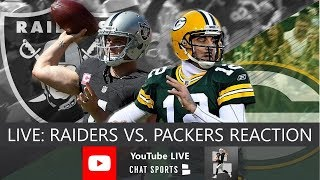 Raiders vs Packers Live Stream Reaction & Updates On Highlights From NFL Preseason Week 3