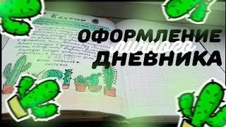Страничка про кактусы в ЛД | Оформление ЛИЧНОГО дневника | Sofia Dreams