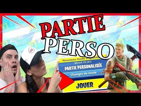 PARTIES PERSONNALISEES AVEC VOUS sur FORTNITE BATTLE ROYALE
