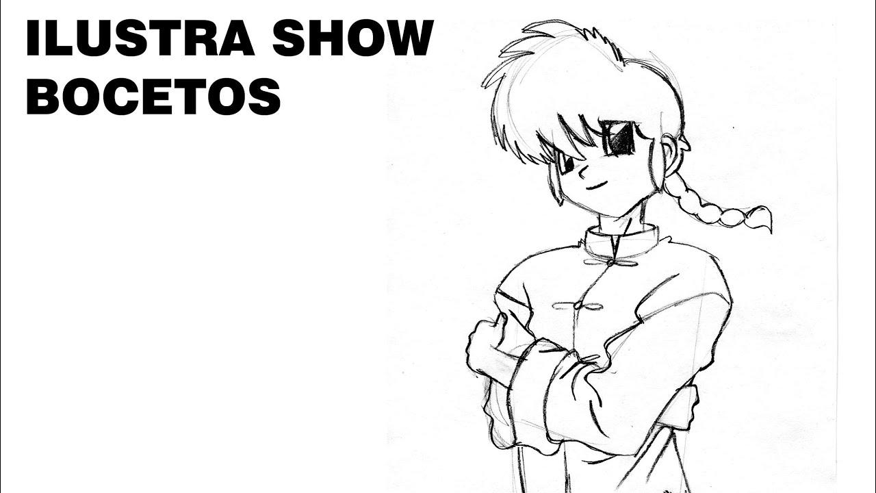 Cmo dibujar a RANMA 1/2 RANMA Y MEDIO Tutorial ILUSTRA ...