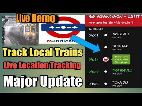 How To Check  Local Train Status   M Indicator New Update