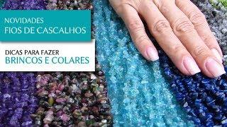 Lançamento: Fios de Cascalhos de Pedras Naturais para Semi Joias - Pedra Mística