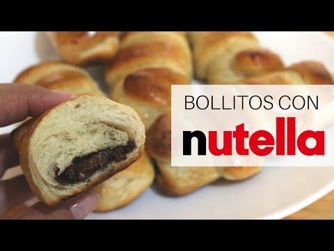 BOLLITOS DE MASA BRIOCHE RELLENOS DE NUTELLA