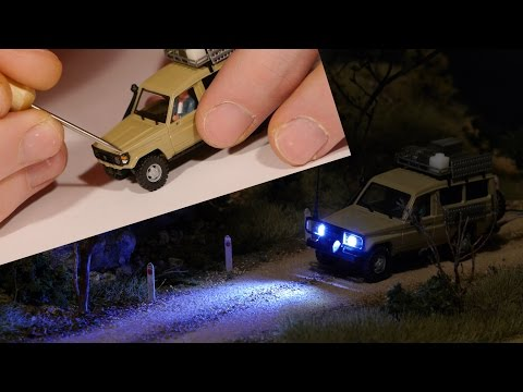 How-To Add Lights to HO scale vehicles – Model Railroad