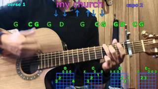 my church maren morris guitar chords