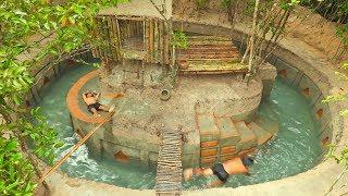 Refreshing On Beautiful Jungle Termite Pool & Slide Around Termite's House
