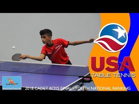 2018 US Youth National Ranking Tournament - Cadet Boy's Singles Final (Ted Li vs. Sid Naresh)