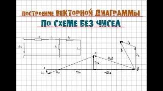 Векторная диаграмма - как она строится без чисел по схеме