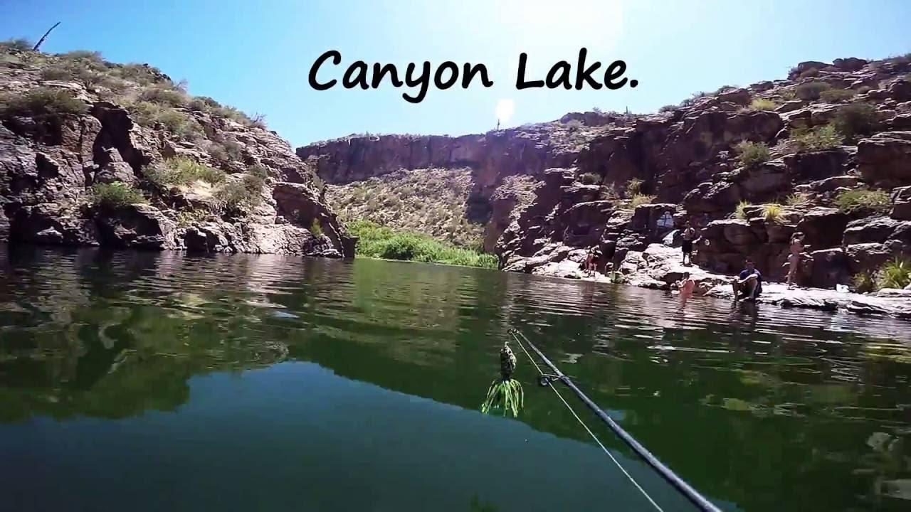 Canyon lake az bass fishing youtube for Canyon lake az fishing