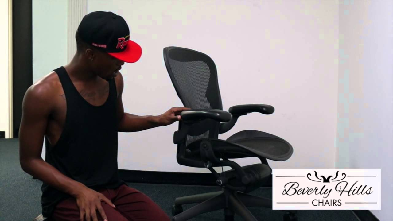 Aeron Chair Used Upside Down Herman Miller Chair: How To Tighten A Loose Armpad - Youtube