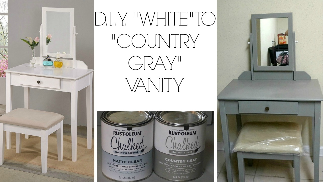 D I Y White To Country Gray Using Rustoleum Chalk Paint Youtube