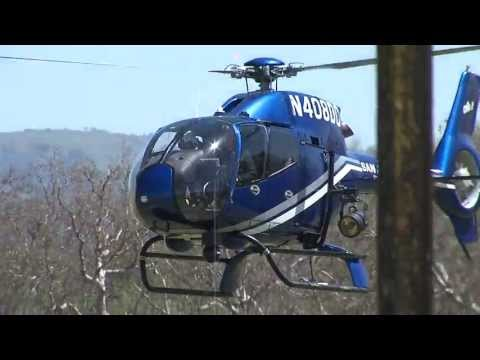 San Jose Police Department Helicopter Air Two low fly by N408DC