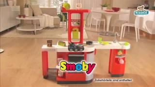 SMOBY 24553 elektronická kuchyňka Loft 4v1 červená