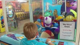 Giant crane game (claw machine) win at Myrtle Beach