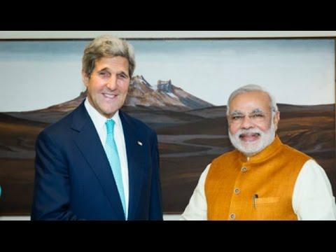 John Kerry Meets Narendra Modi In India