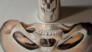 The Anamorphic Skull - Drawing 3D Trick Art on Paper