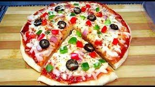 Cheese Vegetable Pizza Recipe চুলায় তৈরি চাইনিজ ভেজিটেবল পিঁজা || Bangladeshi Pizza recipe Pizza