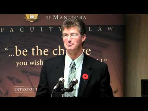 """Andrew Swan - """"The Role of the Minister of Justice and Attorney General"""" - November 4, 2010"""