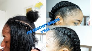 CROCHET BRAIDS CORNROWS || EASY
