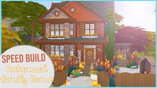 The Sims 4 Speed Build | SMALL AUTUMNAL FAMILY HOUSE + CC Links